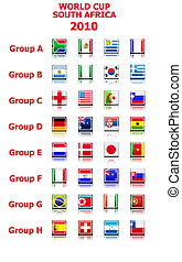 world cup 2010 groups vector
