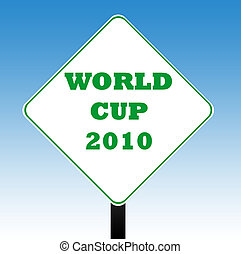 World Cup 2010 road sign