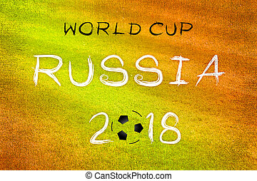 World cup 2018 Russia poster with text