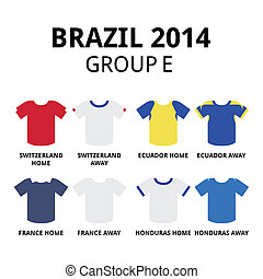 World Cup Brazil 2014 - group D - Soccer jerseys set for...
