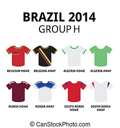 Soccer jerseys set for Belgium, Algeria, Russia, South Korea