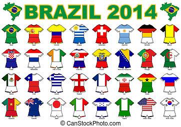 world cup flag strip designs 2014
