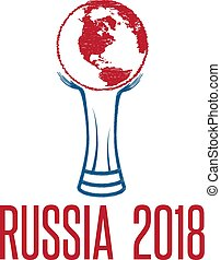 World Cup in Russia 2018 vector illustration