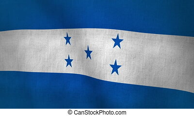 Honduras Waving Flag (Loop-able)