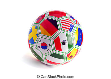 World Cup Soccer Ball With Nation Flags