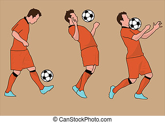 WORLD CUP Soccer players silhouette