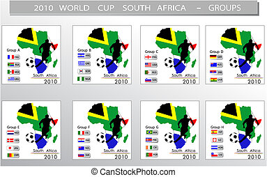 World Cup South Africa balls - Groups