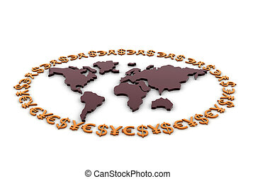 World currency rounded the earth
