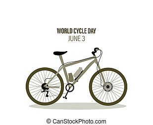 World cycle day 3rd June vector illustration colorful bike. Abstract design.