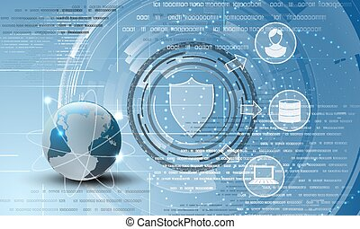World data protection abstract background - Data security...
