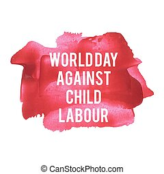 World Day Against Child Labour Holiday, celebration, card,...