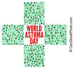World day asthma illustration