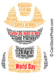 World day safety and health at work word cloud