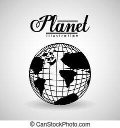 World design, vector illustration.