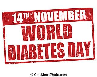 World diabetes day stamp