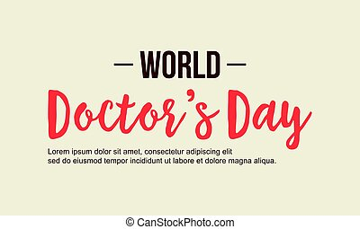 World doctor day background style