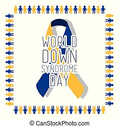 world down syndrome day card invitation event awareness healthy