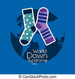 world down syndrome day invitation awareness symbol card