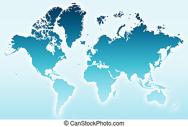 world - the blue world map illustration