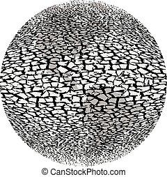 World dry season - Global devastation environment, extremely...