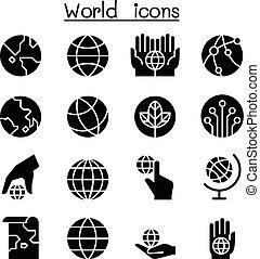 World, Earth icon set