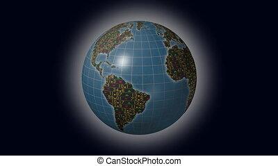 World economies stock market globe