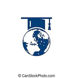 World education logo design.