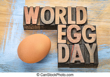 World Egg Day word abstract