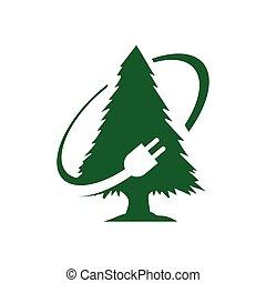 world electricity renewable green energy logo vector illustrations