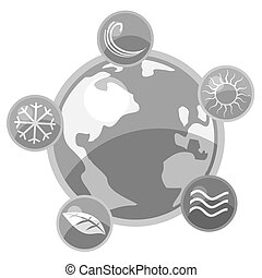 World elements - Creative design of world elements