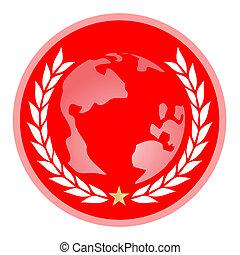 World emblem - Creative design of world emblem