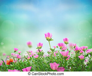 World Environment Day concept: Beautiful floral spring abstract background of nature