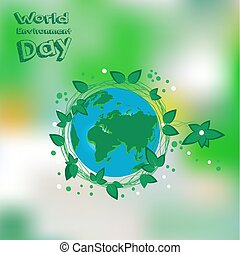 World Environment Day. Earht is our home. Vector illustration