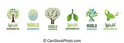 World Environment day, go green concept design. Vector illustration