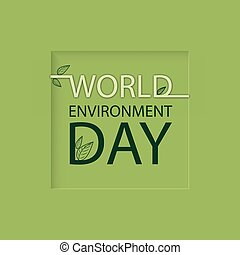 world environment day Logo on a green background