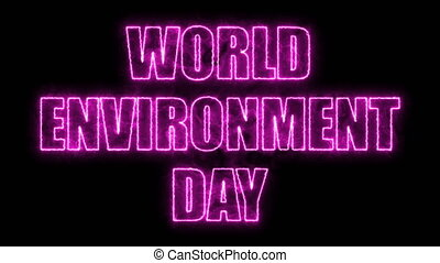 World environment day text, 3d rendering backdrop, computer...