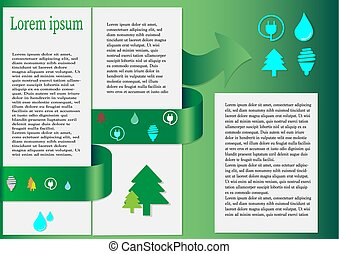 World Environmental Protection Green Energy Ecology Infographics Banner