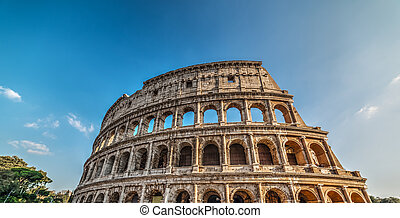 World famous Coliseum on a sunny day