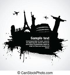 World famous monuments - Illustration of world famous...