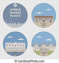 World famous places. Set 12