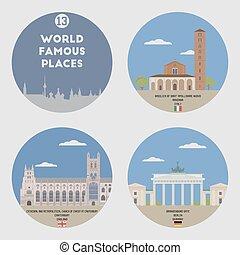 World famous places. Set 13