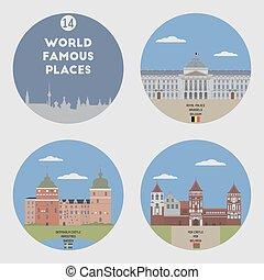 World famous places. Set 14