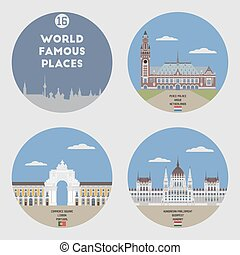 World famous places. Set 16
