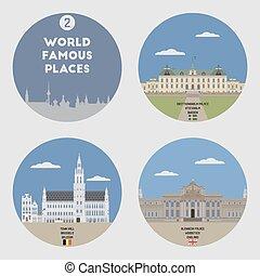 World famous places. Set 2