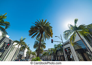 World famous Rodeo Drive in Beverly Hills