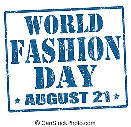 World fashion day stamp