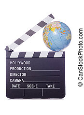 world film movie clapper cutout