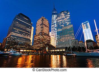world financial center, noche