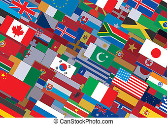 World Flag Background Ready for Your Text & Design