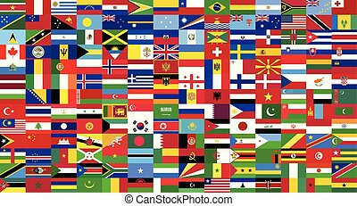 world countries flags collection drawing by illustration